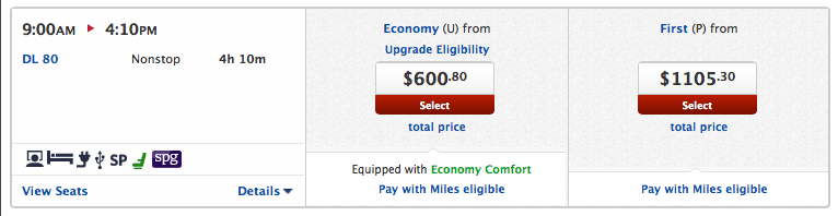 Pay with miles option