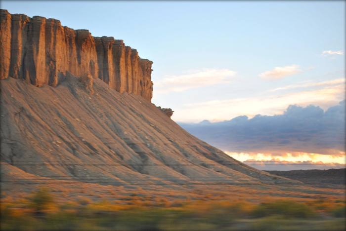 View from the California Zephyr through Utah